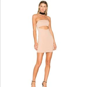X Revolve Attraction Dress in Nude